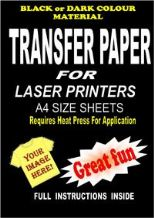 Laser Fabric Transfer Papers For Dark/Coloured Fabrics